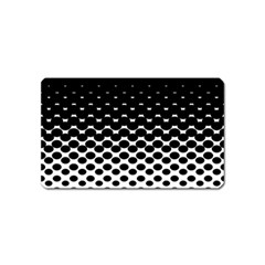 Halftone Gradient Pattern Magnet (name Card) by Simbadda