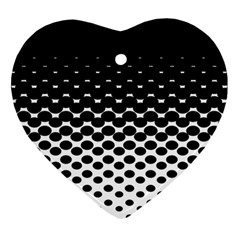 Halftone Gradient Pattern Heart Ornament (two Sides) by Simbadda