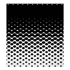 Halftone Gradient Pattern Shower Curtain 66  X 72  (large)  by Simbadda