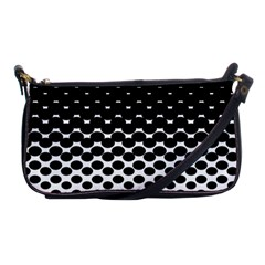 Halftone Gradient Pattern Shoulder Clutch Bags by Simbadda