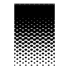 Halftone Gradient Pattern Shower Curtain 48  X 72  (small)  by Simbadda