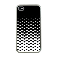 Halftone Gradient Pattern Apple Iphone 4 Case (clear) by Simbadda