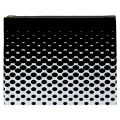Halftone Gradient Pattern Cosmetic Bag (xxxl)  by Simbadda