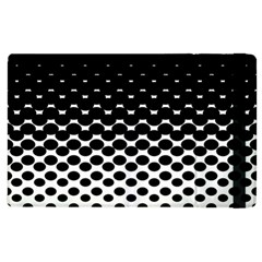 Halftone Gradient Pattern Apple Ipad 2 Flip Case by Simbadda
