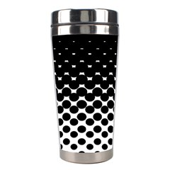 Halftone Gradient Pattern Stainless Steel Travel Tumblers by Simbadda