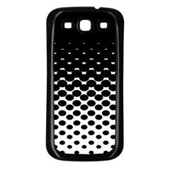 Halftone Gradient Pattern Samsung Galaxy S3 Back Case (black) by Simbadda