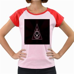Abstract Pigs Triangle Women s Cap Sleeve T Shirt by Simbadda