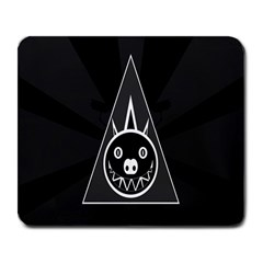 Abstract Pigs Triangle Large Mousepads by Simbadda