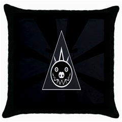 Abstract Pigs Triangle Throw Pillow Case (black) by Simbadda