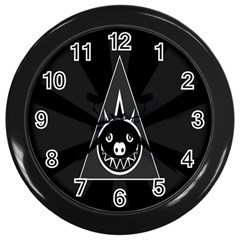 Abstract Pigs Triangle Wall Clocks (black) by Simbadda