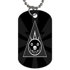 Abstract Pigs Triangle Dog Tag (one Side) by Simbadda