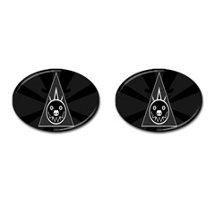 Abstract Pigs Triangle Cufflinks (oval) by Simbadda