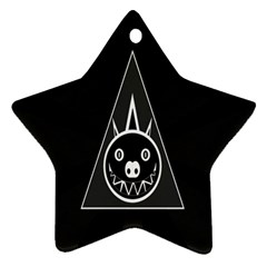 Abstract Pigs Triangle Star Ornament (two Sides) by Simbadda