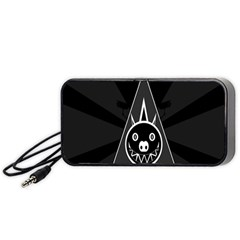 Abstract Pigs Triangle Portable Speaker (black) by Simbadda