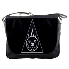 Abstract Pigs Triangle Messenger Bags by Simbadda