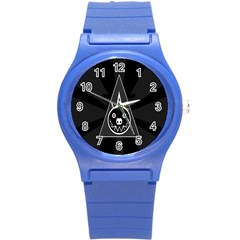 Abstract Pigs Triangle Round Plastic Sport Watch (s) by Simbadda