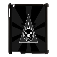 Abstract Pigs Triangle Apple Ipad 3/4 Case (black) by Simbadda