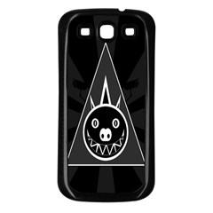 Abstract Pigs Triangle Samsung Galaxy S3 Back Case (black) by Simbadda