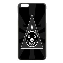 Abstract Pigs Triangle Apple Iphone 6 Plus/6s Plus Black Enamel Case by Simbadda