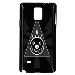 Abstract Pigs Triangle Samsung Galaxy Note 4 Case (black) by Simbadda