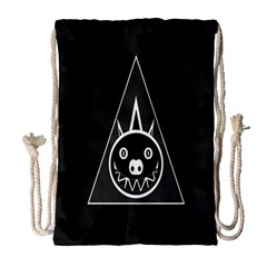 Abstract Pigs Triangle Drawstring Bag (large) by Simbadda