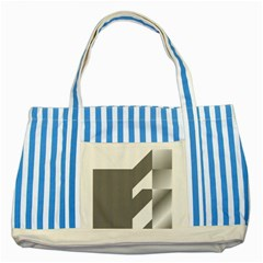 Gradient Base Striped Blue Tote Bag by Simbadda