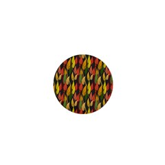 Colorful Leaves Yellow Red Green Grey Rainbow Leaf 1  Mini Buttons by Alisyart