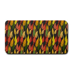 Colorful Leaves Yellow Red Green Grey Rainbow Leaf Medium Bar Mats by Alisyart