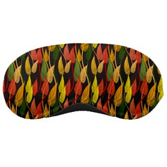 Colorful Leaves Yellow Red Green Grey Rainbow Leaf Sleeping Masks by Alisyart