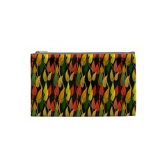 Colorful Leaves Yellow Red Green Grey Rainbow Leaf Cosmetic Bag (small)  by Alisyart