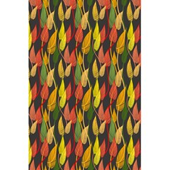 Colorful Leaves Yellow Red Green Grey Rainbow Leaf 5 5  X 8 5  Notebooks by Alisyart