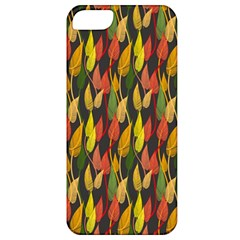 Colorful Leaves Yellow Red Green Grey Rainbow Leaf Apple Iphone 5 Classic Hardshell Case by Alisyart
