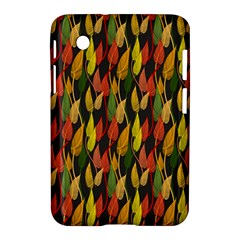 Colorful Leaves Yellow Red Green Grey Rainbow Leaf Samsung Galaxy Tab 2 (7 ) P3100 Hardshell Case  by Alisyart