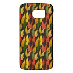 Colorful Leaves Yellow Red Green Grey Rainbow Leaf Galaxy S6 by Alisyart