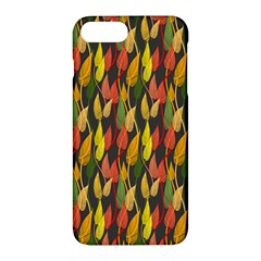 Colorful Leaves Yellow Red Green Grey Rainbow Leaf Apple Iphone 7 Plus Hardshell Case by Alisyart