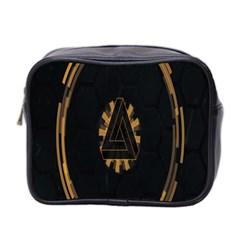 Geometry Interfaces Deus Ex Human Revolution Deus Ex Penrose Triangle Mini Toiletries Bag 2 Side by Simbadda