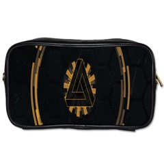 Geometry Interfaces Deus Ex Human Revolution Deus Ex Penrose Triangle Toiletries Bags by Simbadda