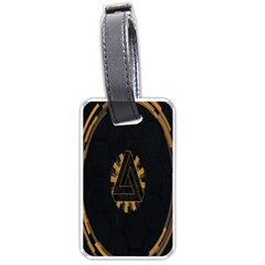 Geometry Interfaces Deus Ex Human Revolution Deus Ex Penrose Triangle Luggage Tags (one Side)  by Simbadda