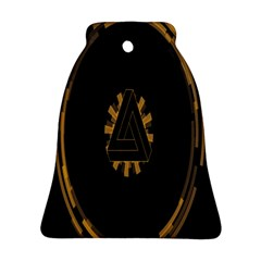 Geometry Interfaces Deus Ex Human Revolution Deus Ex Penrose Triangle Bell Ornament (two Sides) by Simbadda