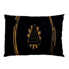 Geometry Interfaces Deus Ex Human Revolution Deus Ex Penrose Triangle Pillow Case (two Sides) by Simbadda