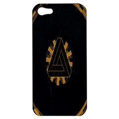 Geometry Interfaces Deus Ex Human Revolution Deus Ex Penrose Triangle Apple Iphone 5 Hardshell Case by Simbadda