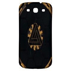 Geometry Interfaces Deus Ex Human Revolution Deus Ex Penrose Triangle Samsung Galaxy S3 S Iii Classic Hardshell Back Case by Simbadda