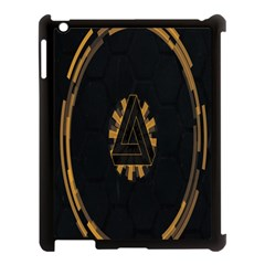 Geometry Interfaces Deus Ex Human Revolution Deus Ex Penrose Triangle Apple Ipad 3/4 Case (black) by Simbadda
