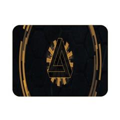 Geometry Interfaces Deus Ex Human Revolution Deus Ex Penrose Triangle Double Sided Flano Blanket (mini)  by Simbadda