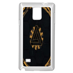Geometry Interfaces Deus Ex Human Revolution Deus Ex Penrose Triangle Samsung Galaxy Note 4 Case (white) by Simbadda