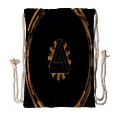 Geometry Interfaces Deus Ex Human Revolution Deus Ex Penrose Triangle Drawstring Bag (large) by Simbadda