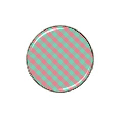 Cross Pink Green Gingham Digital Paper Hat Clip Ball Marker (4 Pack) by Alisyart