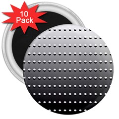 Gradient Oval Pattern 3  Magnets (10 pack)  by Simbadda