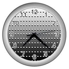 Gradient Oval Pattern Wall Clocks (silver)  by Simbadda