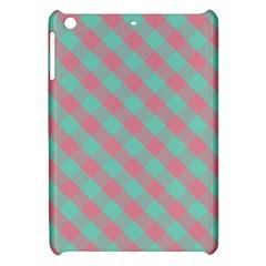 Cross Pink Green Gingham Digital Paper Apple Ipad Mini Hardshell Case by Alisyart